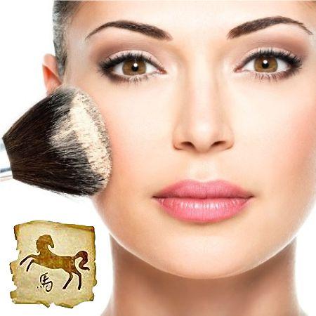 Романтичный макияж года Лошади