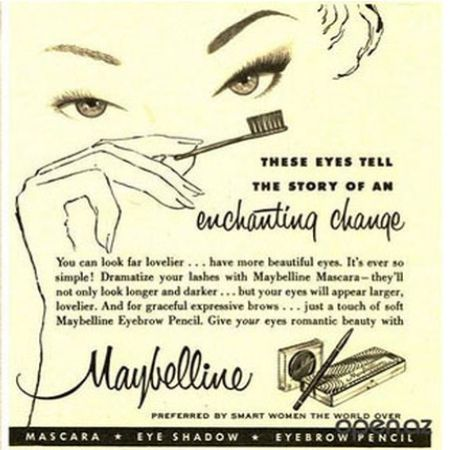 Birth of mascara to lashes