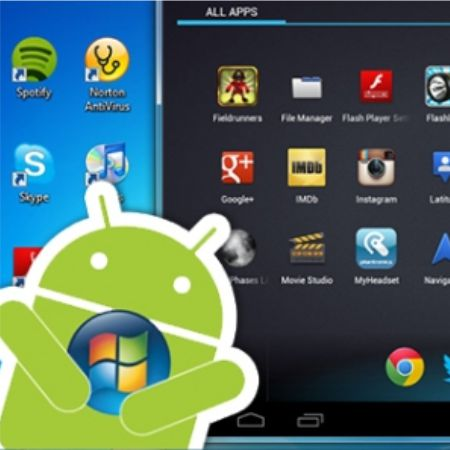Android emulator will run the application on your computer