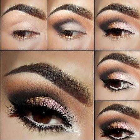 Техника макияжа глаз Банана - схема