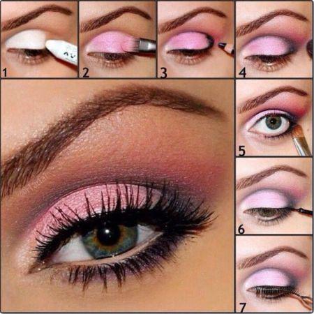 Техника макияжа глаз Птичка - схема