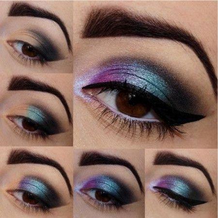 Классическая вертикальная техника макияжа глаз