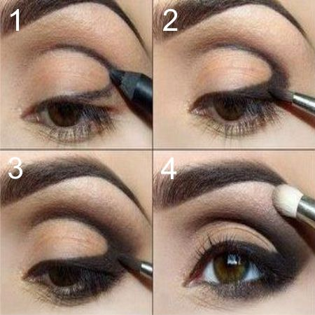 What is the technique of eye makeup pencil?