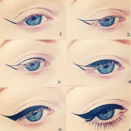 How to make beautiful arrows on the eyes