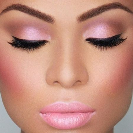 Pink Makeup or Make-up in Purple Colors and Shades