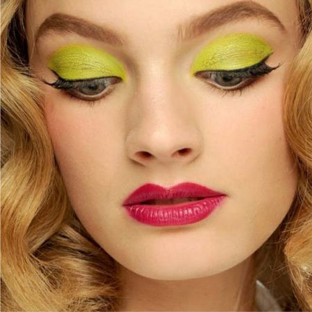 Makeup in yellow color and shades