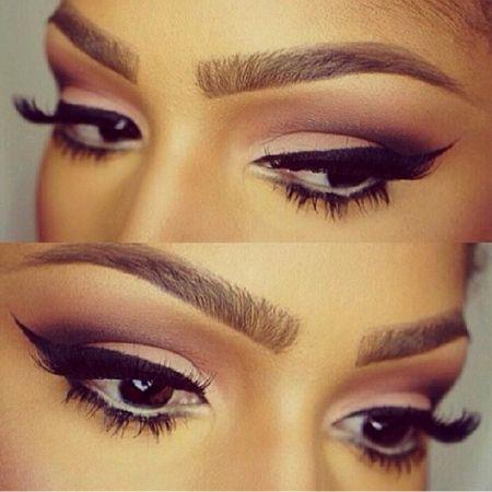 Красивый макияж черных глаз