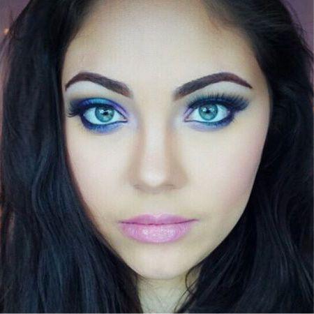 Красивый макияж голубых глаз