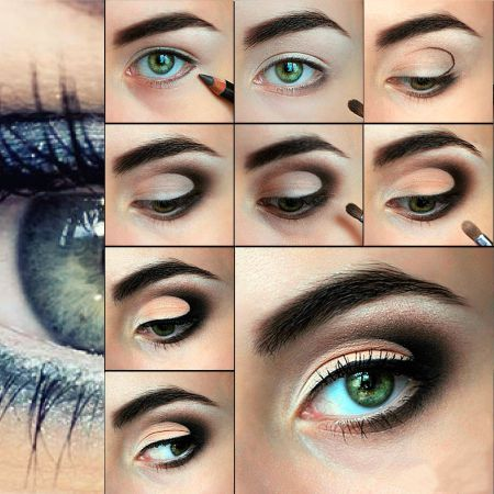 How to do makeup for blue-green eyes