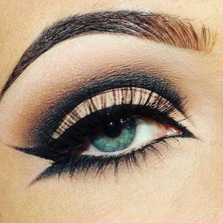 Красивый макияж зеленых глаз
