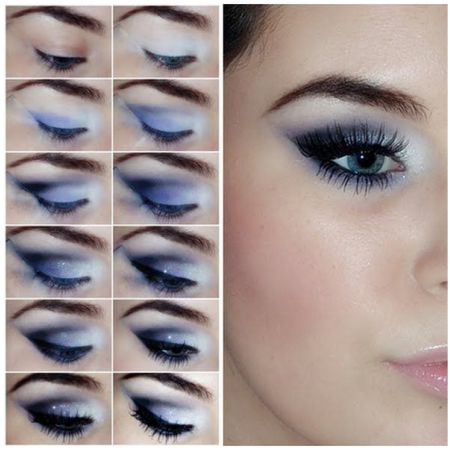 Tutorial how to do makeup for Teal Eyes