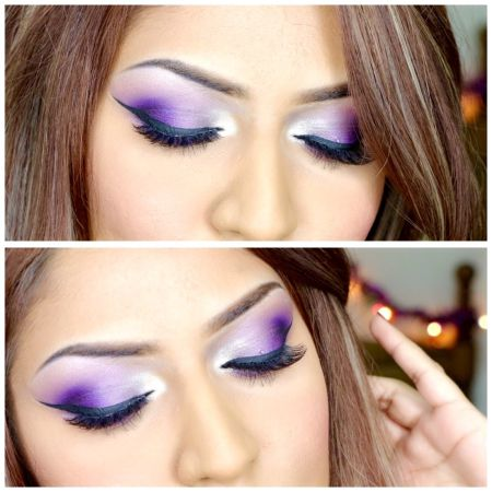 Tutorial how to do makeup for Violet Eyes