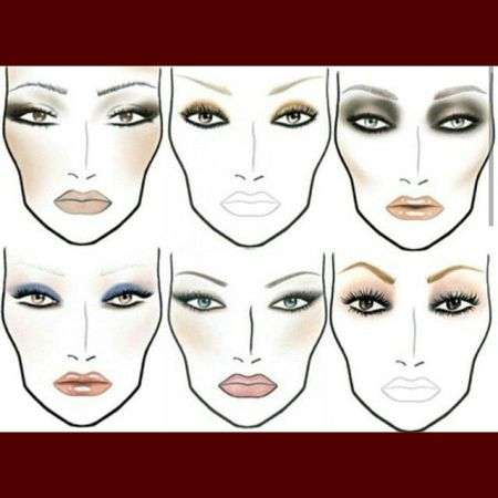 Types of eye makeup in pictures
