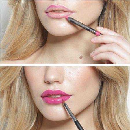 Как с помощью макияжа скорректировать форму губ