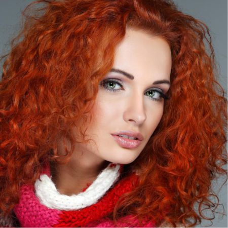 Makeup for red hair, choose a lipstick color