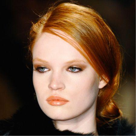Шикарный макияж для обладательницы рыжих волос