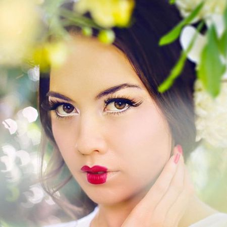 современная разновидность макияжа гейши