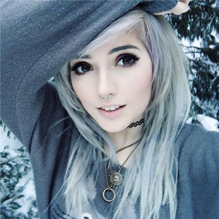 Emo makeup blonde photo