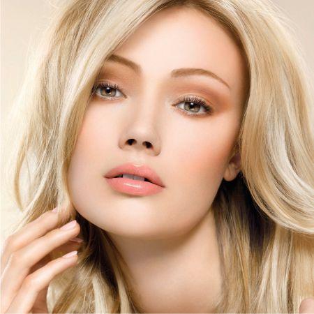 Повседневный макияж блондинки