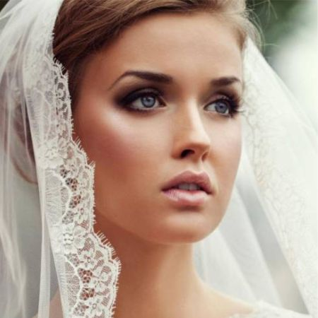 Wedding make-up photo of a beautiful wedding makeup